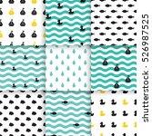 set of scandinavian trend... | Shutterstock .eps vector #526987525