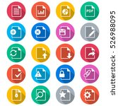 document flat color icons | Shutterstock .eps vector #526988095