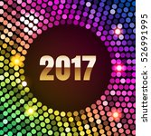 neon club rainbow sequins disco ... | Shutterstock .eps vector #526991995