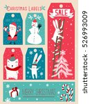 christmas label | Shutterstock .eps vector #526993009
