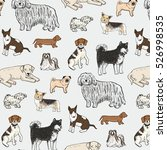 Stock vector dogs animal vector pattern 526998535