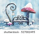 fantasy winter scenery with a... | Shutterstock . vector #527002495