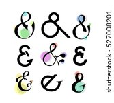 ampersands  made in vector. set ... | Shutterstock .eps vector #527008201