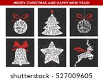 merry christmas and happy new... | Shutterstock . vector #527009605