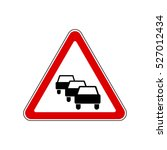 traffic queues likely ahead | Shutterstock .eps vector #527012434