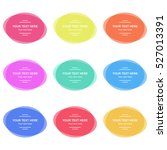 set of vector colorful round... | Shutterstock .eps vector #527013391