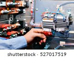 electrician near the low... | Shutterstock . vector #527017519