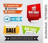 collection of web tag banner... | Shutterstock .eps vector #527018641
