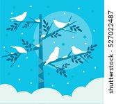 winter birds  | Shutterstock .eps vector #527022487
