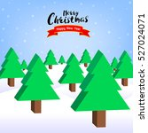 abstract isometric pine trees.  ... | Shutterstock .eps vector #527024071