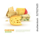 Colorful Cheese Template With...
