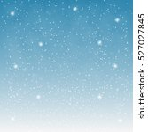 flying snowflakes on a light... | Shutterstock .eps vector #527027845