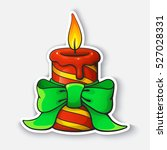 vector illustration. christmas... | Shutterstock .eps vector #527028331