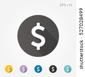 colored icon of dollar symbol... | Shutterstock .eps vector #527028499
