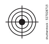 gun target linear icon. aim.... | Shutterstock .eps vector #527028715