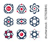 science symbols  atom and... | Shutterstock .eps vector #527028841