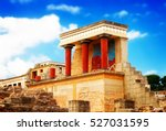 ancient ruines of famouse... | Shutterstock . vector #527031595