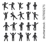 Set Of People Figure Pictogram...