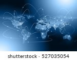 best internet concept of global ... | Shutterstock . vector #527035054