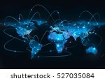 best internet concept of global ... | Shutterstock . vector #527035084