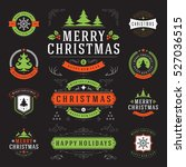 christmas labels and badges... | Shutterstock .eps vector #527036515