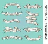 white ribbon banners set.... | Shutterstock .eps vector #527038687