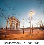 the arc de triomphe de l'etoile ... | Shutterstock . vector #527042434