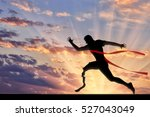 disabled sportsman runner with... | Shutterstock . vector #527043049