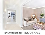 modern house interior with a... | Shutterstock . vector #527047717