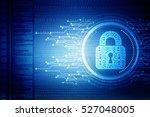 security concept  lock on... | Shutterstock . vector #527048005
