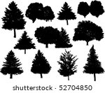 vector tree silhouettes | Shutterstock .eps vector #52704850