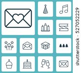 set of 12 celebration icons.... | Shutterstock .eps vector #527052229