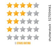 simple star rating. with... | Shutterstock .eps vector #527054461