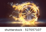 burning tyre | Shutterstock . vector #527057107