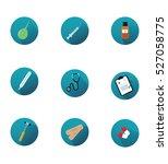 medical icons set.  pills ... | Shutterstock .eps vector #527058775
