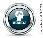 knowledge vector icon. chrome... | Shutterstock .eps vector #527059621
