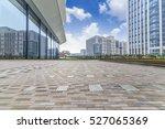 empty floor with modern... | Shutterstock . vector #527065369