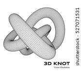 3 d vector threefold torus....   Shutterstock .eps vector #527071531