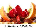 exotic fruits salad in... | Shutterstock . vector #52707190
