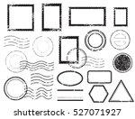 blank postal stamps set... | Shutterstock .eps vector #527071927