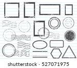blank postal stamps set... | Shutterstock .eps vector #527071975
