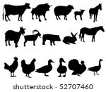 Stock vector farm animals 52707460