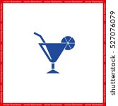 cocktail  icon vector... | Shutterstock .eps vector #527076079