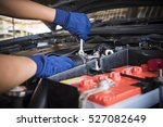 car service  fitting a car... | Shutterstock . vector #527082649