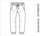 trousers apparel vector... | Shutterstock .eps vector #527086525