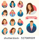 people. icons of people.... | Shutterstock .eps vector #527089009