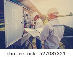 engineer working on checking... | Shutterstock . vector #527089321