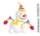snowman dance and play. 3d stile
