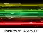 future technology  red green... | Shutterstock .eps vector #527092141