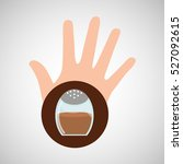 hand and cinnamon icon vector... | Shutterstock .eps vector #527092615